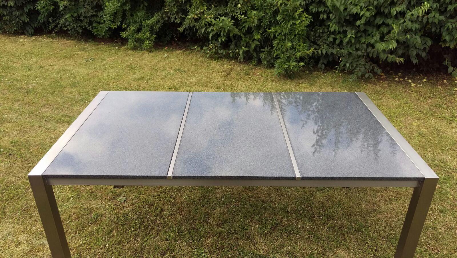 gartentisch edelstahl granit ebay. Black Bedroom Furniture Sets. Home Design Ideas